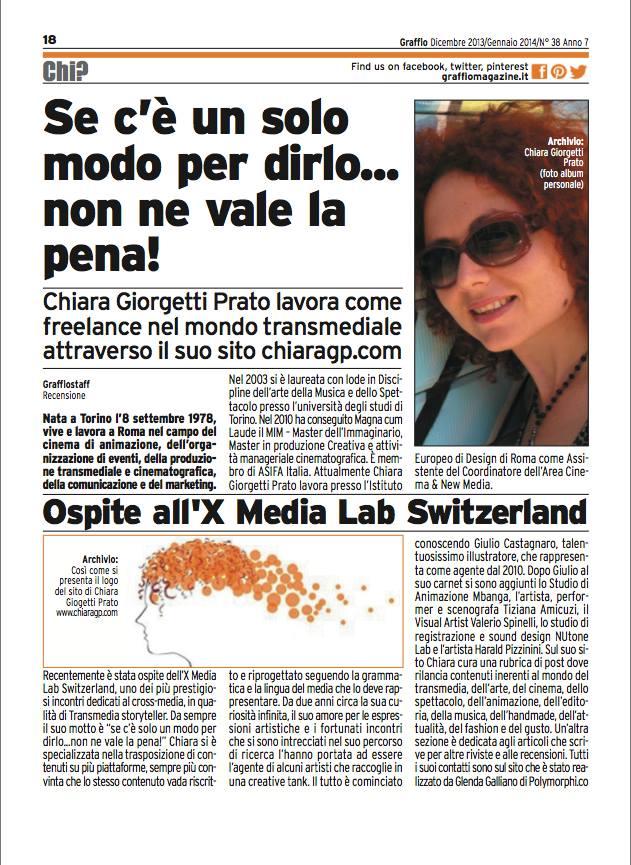 articolo ChiaraGP su Graffio